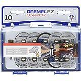 Dremel SC690 - Juego de accesorios EZ SpeedClic (10 discos de corte, mandril, maletín)