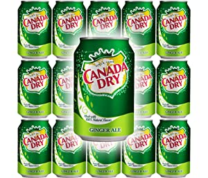 Canada Dry Ginger Ale, 12oz Can (Pack of 15, Total of 180 Oz)