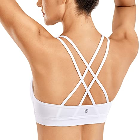 TALLA XS. CRZ YOGA - Sujetador Deportivo Yoga Cruzados Almohadillas Extraíbles para Mujer