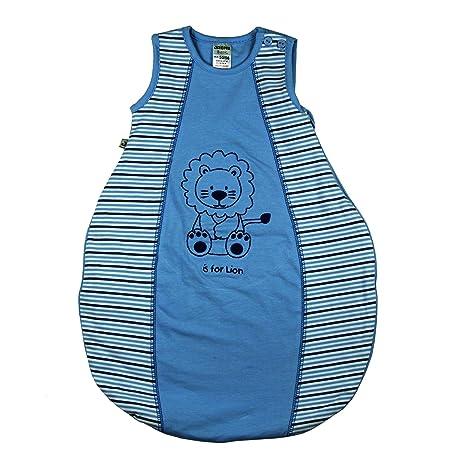 JACKY – Saco de dormir para bebé turquesa Hellblau geringelt Talla:50/56