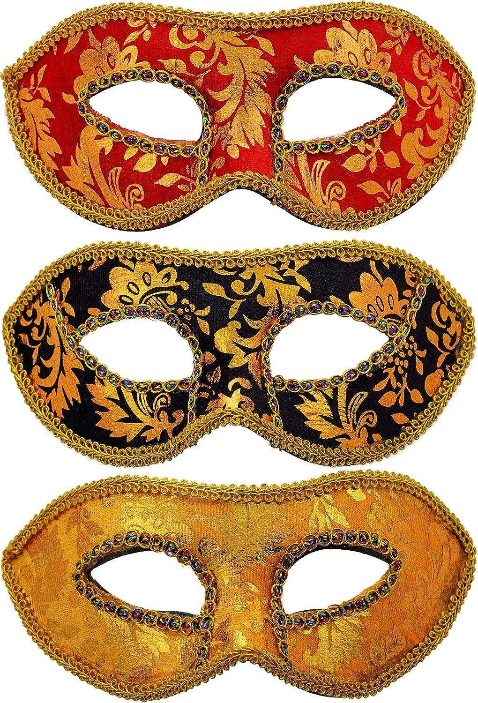 Red Eyeglass Womens Adult Masquerade Ball Costume Half Mask