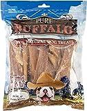 Loving Pets Pure Buffalo 6-Inch Backstrap Tendon Dog Treat, 20-Pack