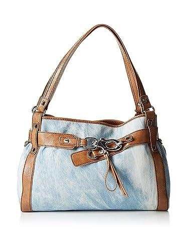 Francesco Biasia Bag Hand Strap Gea Light Brown Denim  Amazon.co.uk  Shoes    Bags 8a7d0bbc5333e