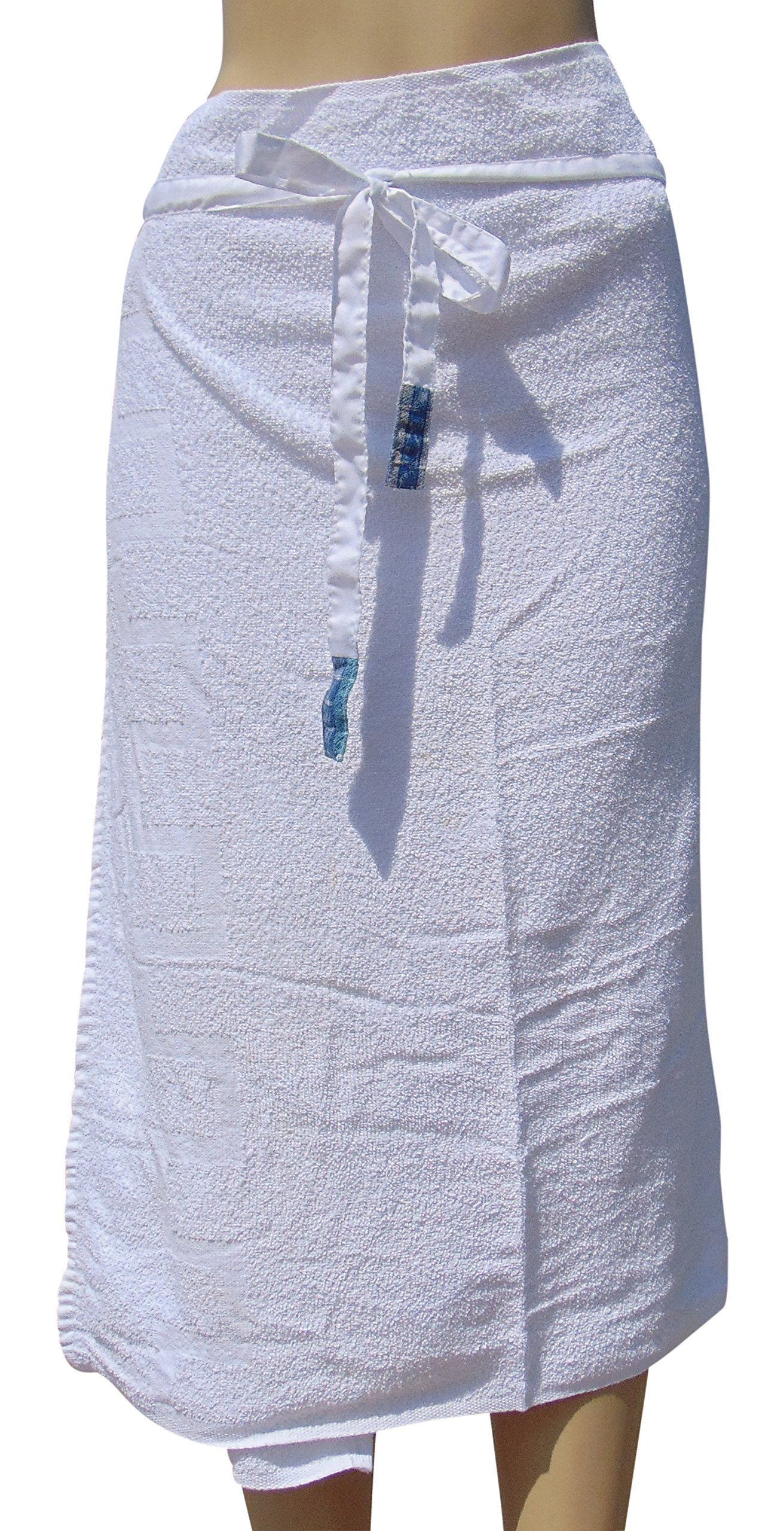 Thai Style Beach Towel - 100% Pure Cotton - Soft & Comfortable With Waist Straps| Easy to Wash & White Colour - Hobo Traveler.com by HoboTraveler.com