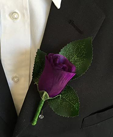 Amazon boutonniere purple rose boutonniere with pin for boutonniere purple rose boutonniere with pin for prom party wedding junglespirit Image collections