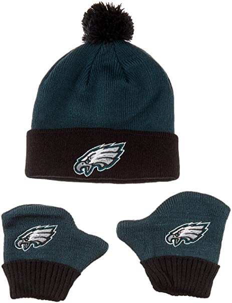 382f7487 OTS Infant Infant NFL Infant Pow Knit Cap & Mittens Set, Team Color, Infant