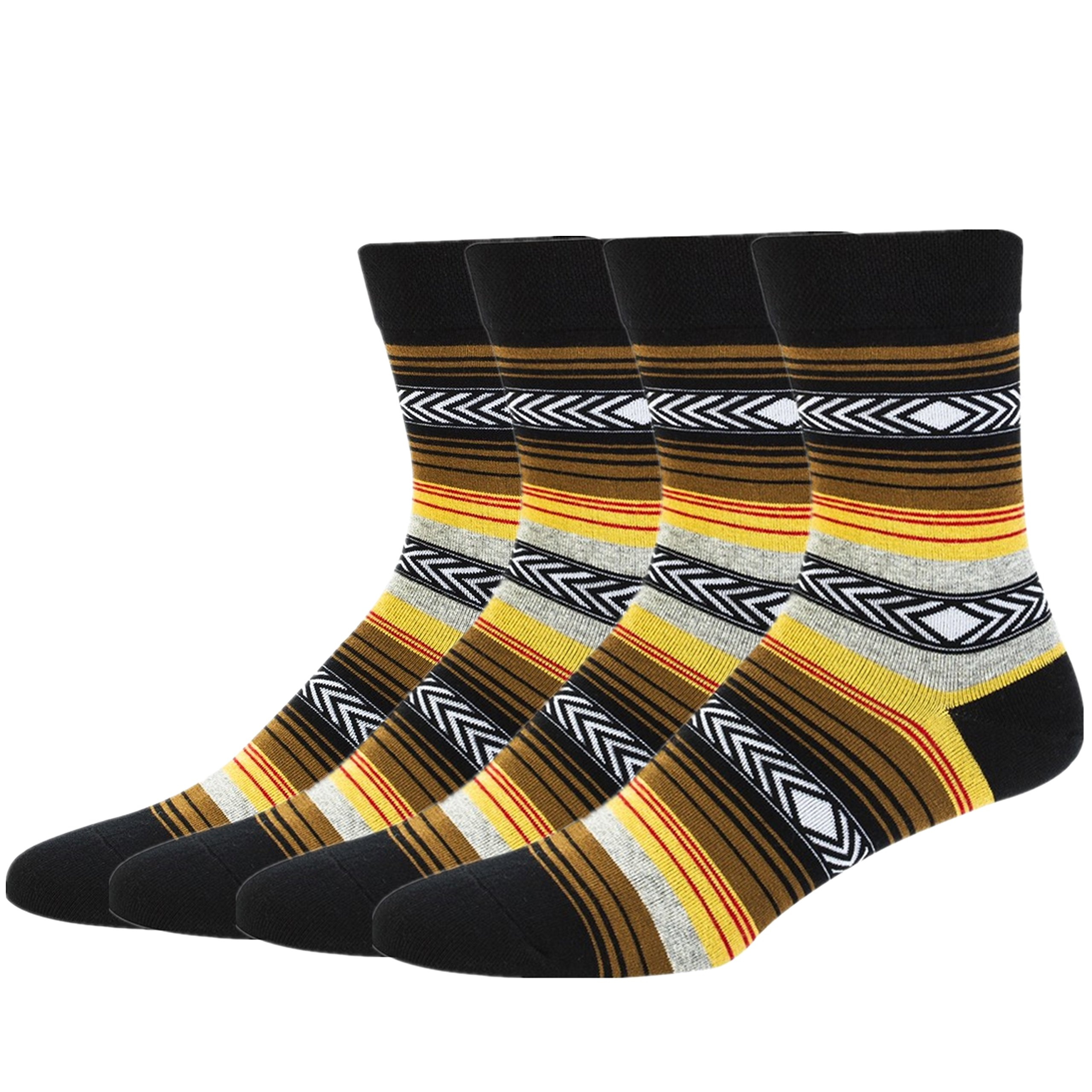 Women's Dress Socks Colorful Warm Funny Casual Crew Vintage Style 2 Pairs Tselected (Yellow)
