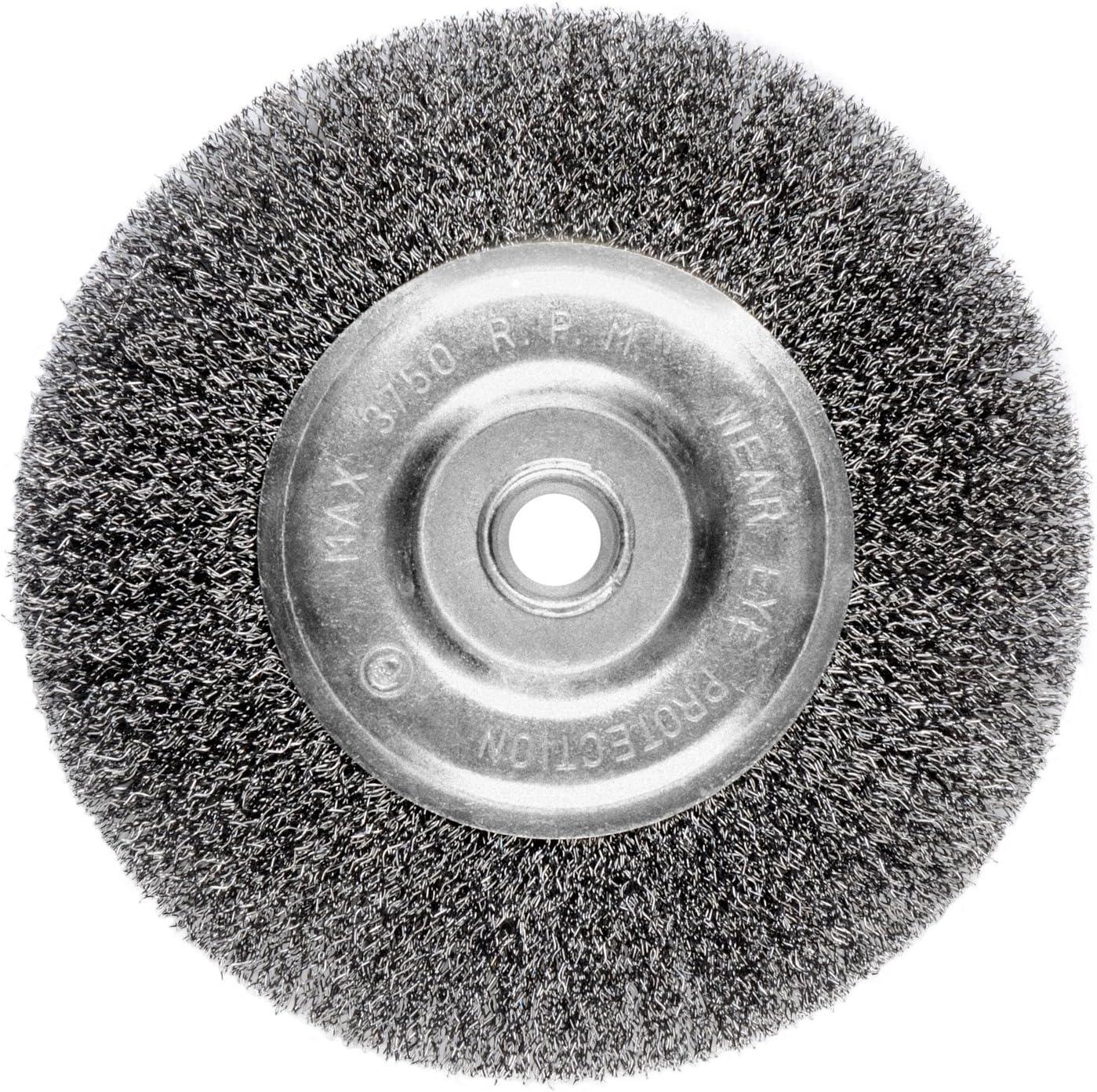 6-Inch Bench Grinder Wire Bench Wheel Brush Fine Crimped with 1//2Inch 5//8Inch