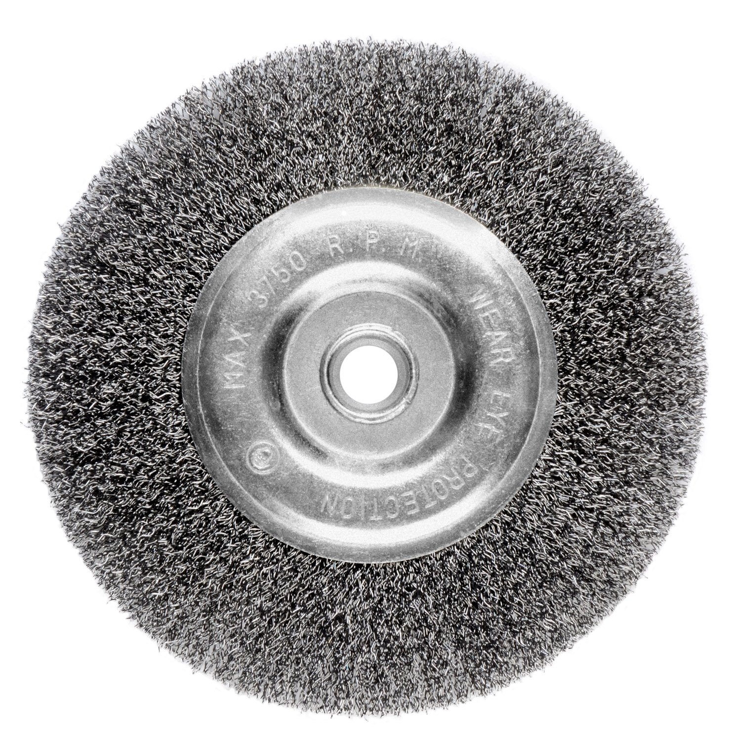 Ansen Tools AN 305 6-Inch Wire Bench Wheel Fine Crimped with 1/2-Inch Arbor
