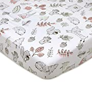 Lolli Living 100% Cotton Crib Fitted Sheet (Kayden Collection). Woodlands Pattern Ultra-Soft Fitted Sheet for Standard Cribs