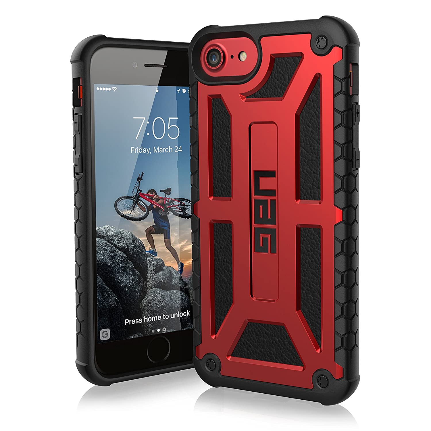 huge discount c1ca1 ed41f Details about UAG iPhone 8 7 6 6s 4.7-inch screen Monarch Rugged [CRIMSON]  Case Maga ICE