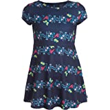 Nautica girls Girls' Short Sleeve Floral Dress Casual Dress