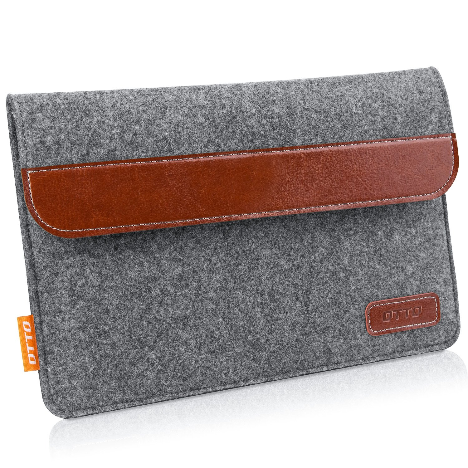 DTTO 7-8 Inch Tablet Sleeve Bag Portable Protective Sleeve Case Cover [Shock Resistant] with Accessory Pocket for iPad Mini 4/3 /2/1, Samsung Galaxy Tab S2 8-Inch, Tab A 8-Inch - Dark Gray