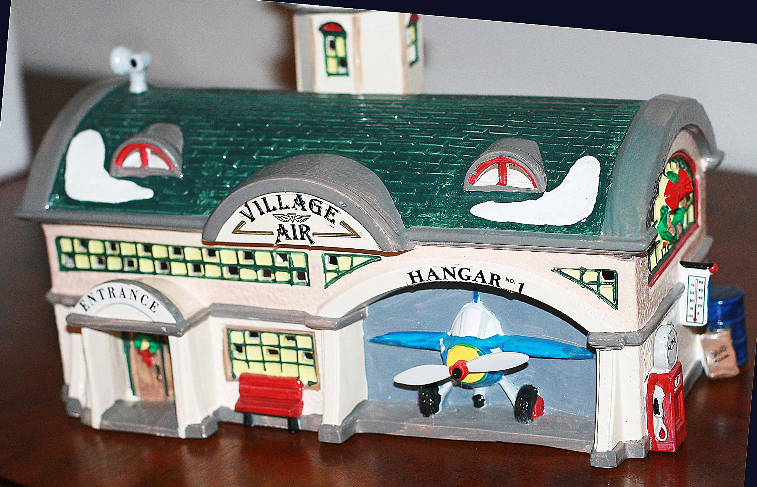 VILLAGE AIR Airport #5439-9 Department 56 SNOW VILLAGE (8 1/2 Inches Tall)
