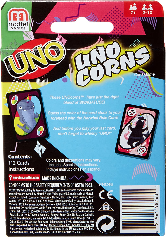 Unocorns Card Game Uno Unicorns