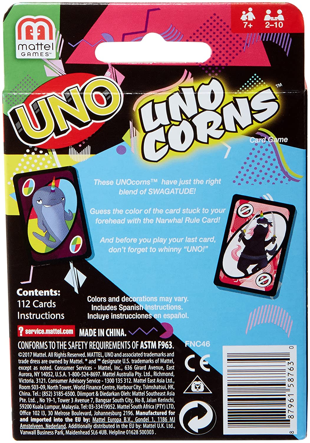 Amazon.com: UNOcorns Card Game: Toys & Games