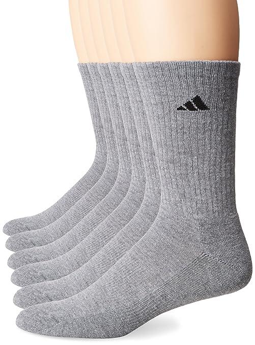 2d3fb8409c6670 Amazon.com  adidas Men s Athletic Cushioned Crew Socks (6-Pack ...