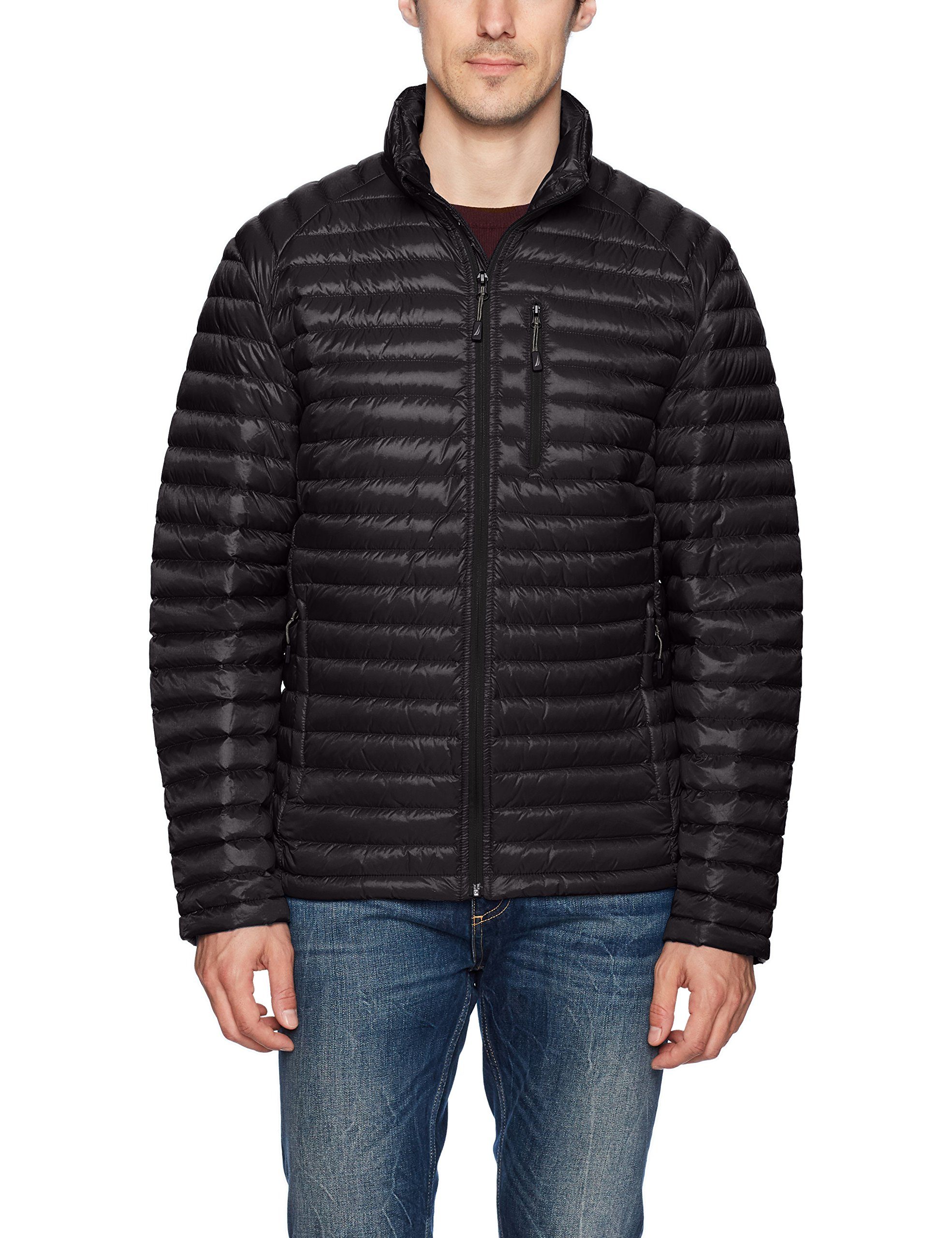 Nautica Men's Down Packable Puffer Jacket, Black, M