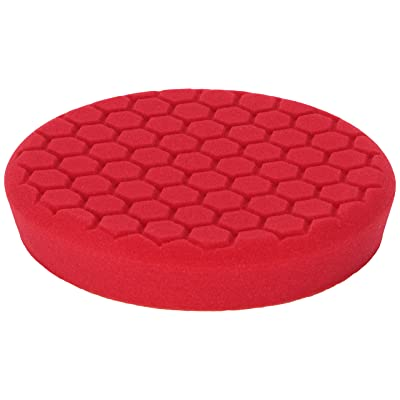 Chemical Guys BUFX_107_HEX - Self-Centered Hex Logic Perfection Micro-Fine Finishing Pad for Sealants and Waxes, Red (7.5 Inch Fits 7 Inch Backing Plate): Automotive