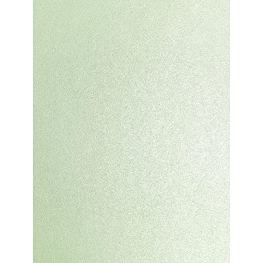 Fresh verde menta nacarante tiras decorativas Sparkle de doble cara efecto brillante A4 Tarjeta de decorativo 290gsm 10 x