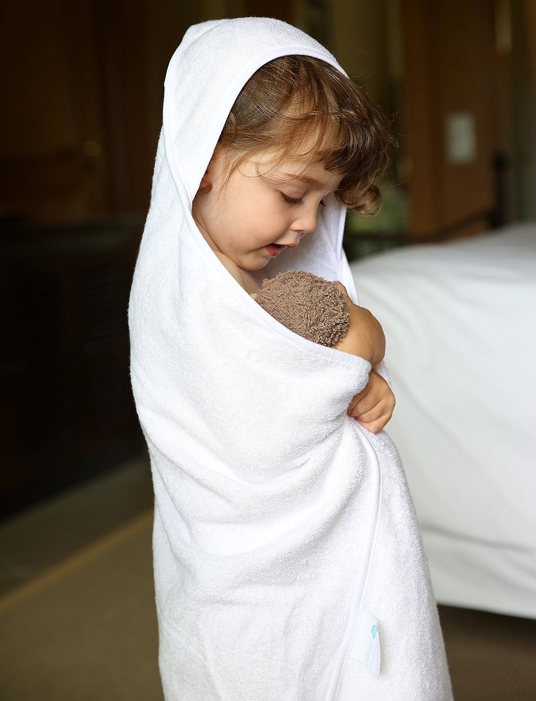perfekt f/ür Neugeborene und Kleinkinder Luxus Bio Bambus Bio Baby Kapuzenbadetuch von Dinky D Extra gro/ße 86 x 86 cm