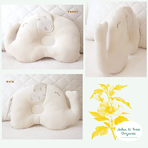 Organic Cotton Prevent from flat head (Elephant Pillow for Baby)