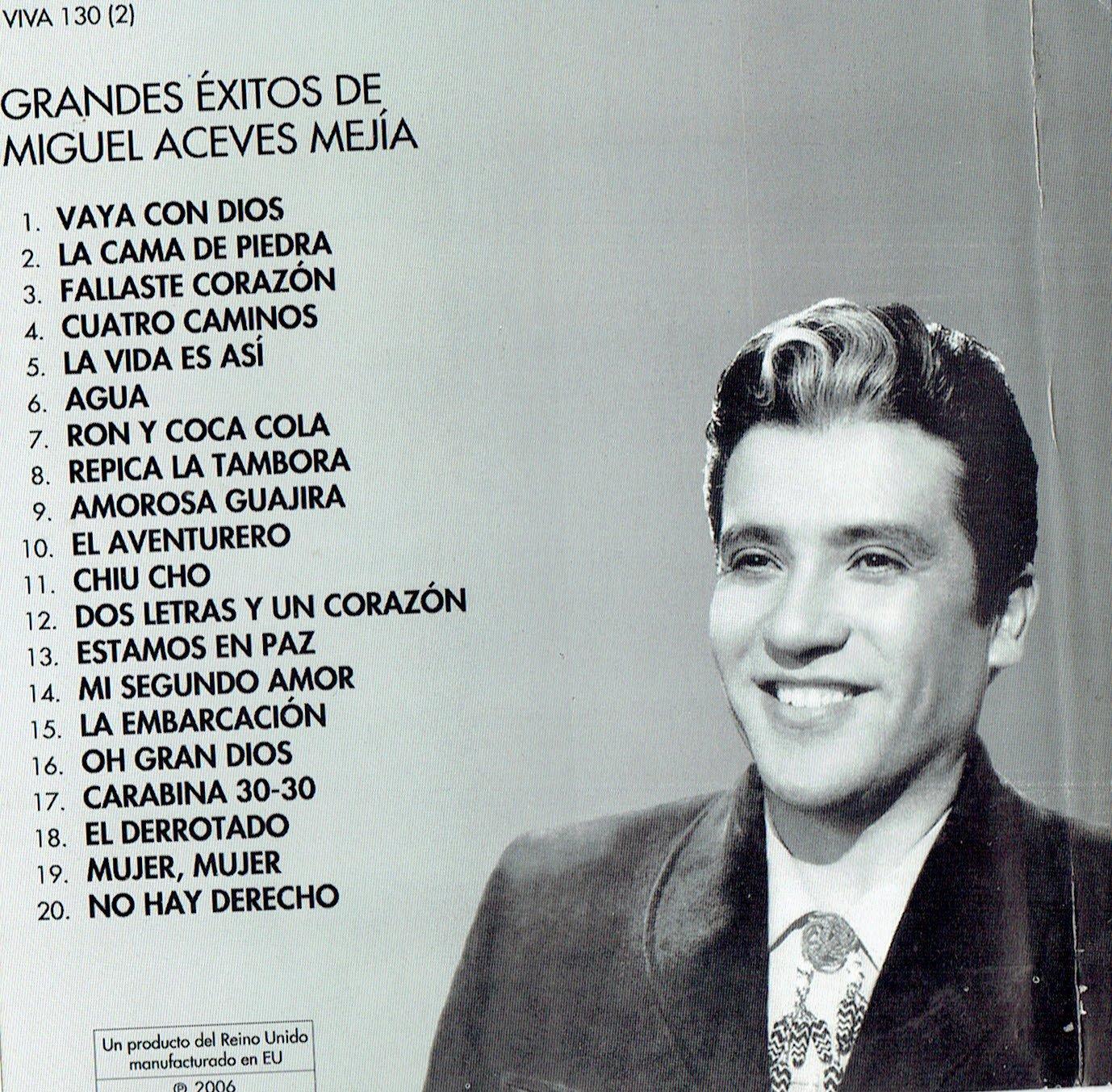 Grandes Exitos de Miguel Aceves Mejia 20 Canciones Vol.2 ...