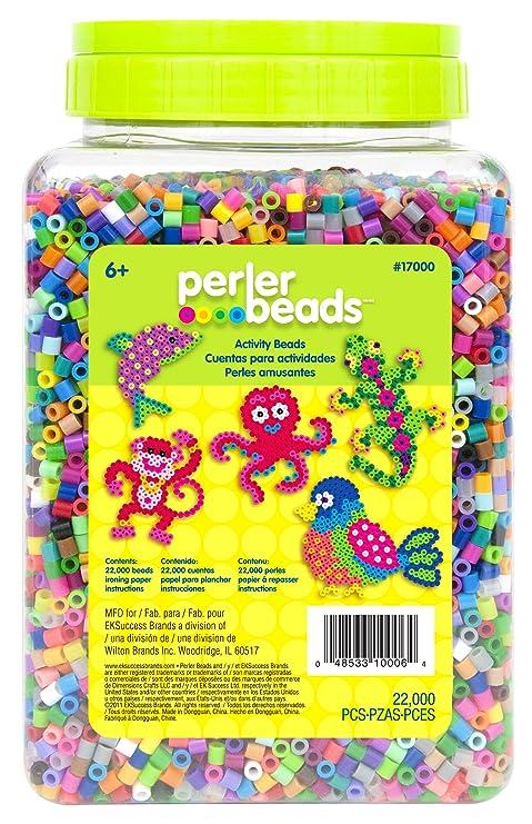 Perler Beads 22000 Count Bead Jar Multi Mix Colors 17000 Amazon