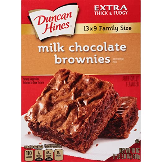 Duncan Hines Brownie Mix,  Milk Chocolate, 18 Ounce
