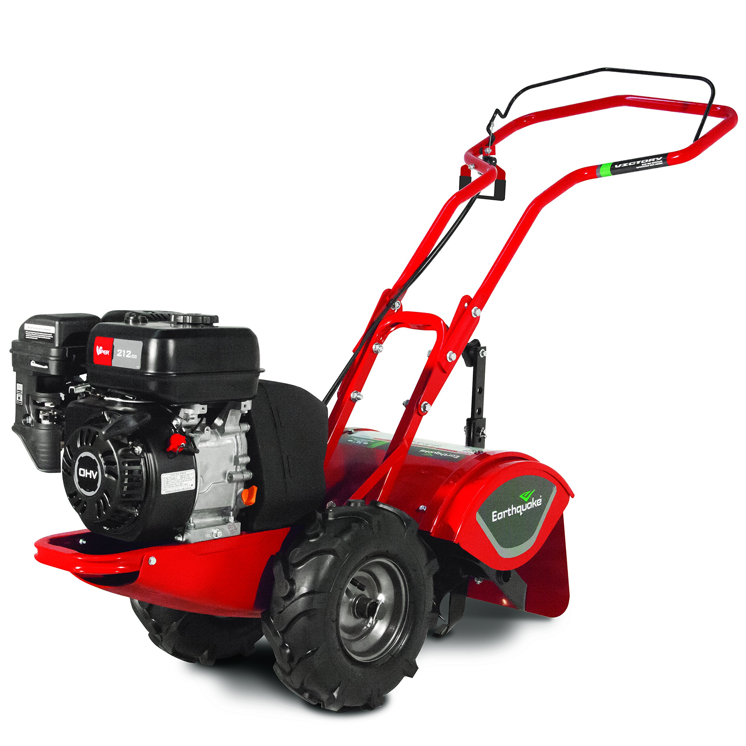 Earthquake 24598 Victory Compact Rear Tine Tiller, with Reverse & 4-Cycle 212cc Viper Engine