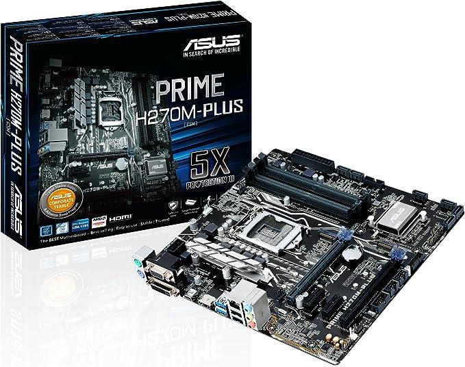 ASUS PRIME B250M-PLUS Intel 1151 DDR4 D-SUB CrossFire X Micro-ATX Motherboard