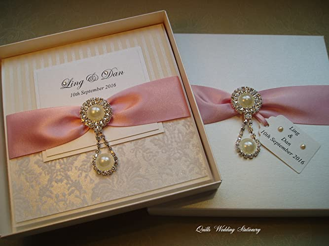 Luxury Boxed Wedding Invitation Supplied In