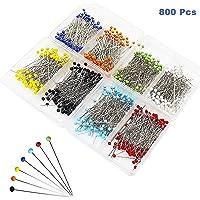 Alfileres de Costura (800 Piezas) - Colores Variados