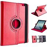 Ace of Slates 360 Degree Rotating Stand Case for iPad 4 Retina Display, iPad 3 and iPad 2 - Red