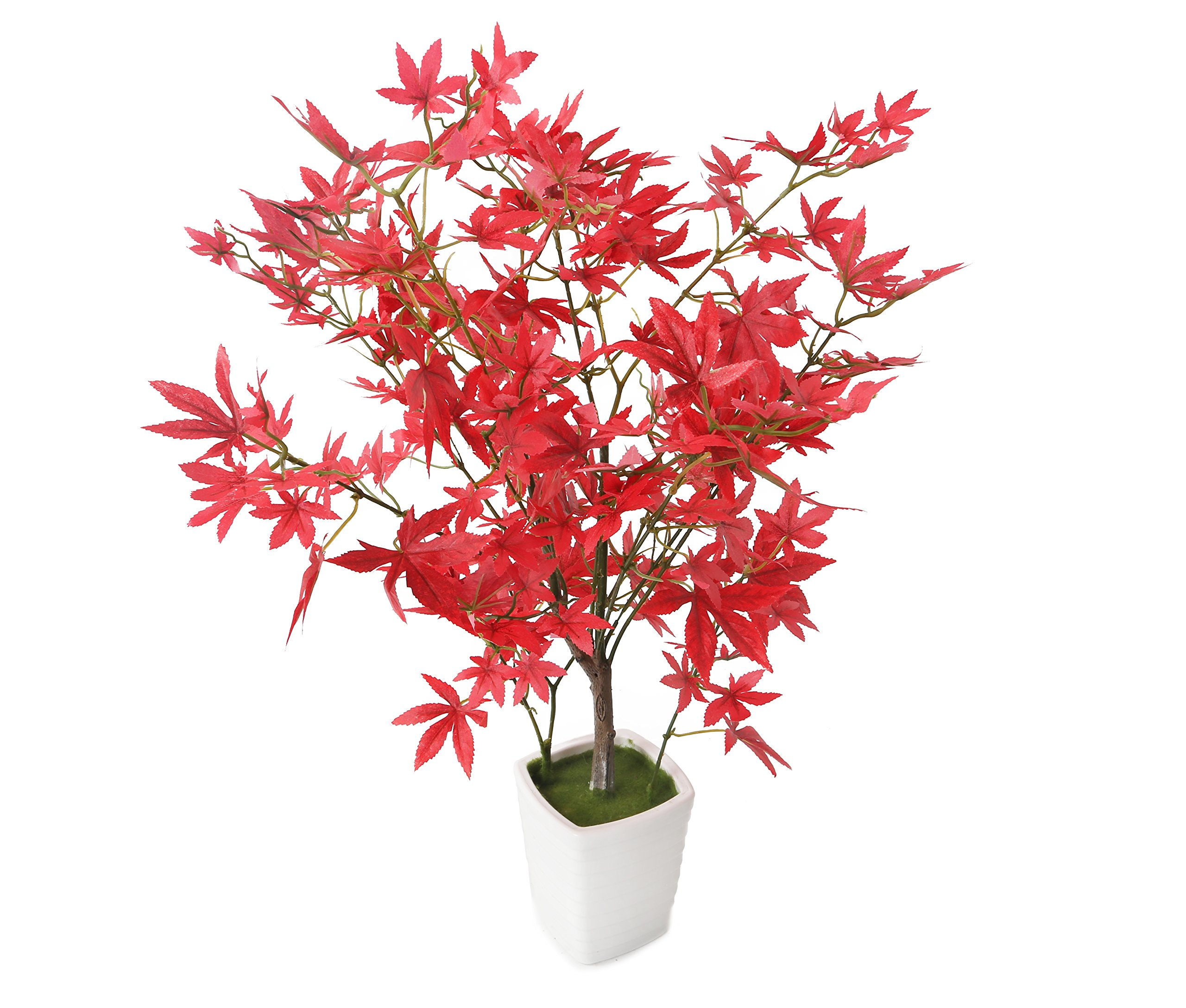 Closer2Nature Artificial 1ft 7'' Red Japanese Maple Tree by Closer2Nature