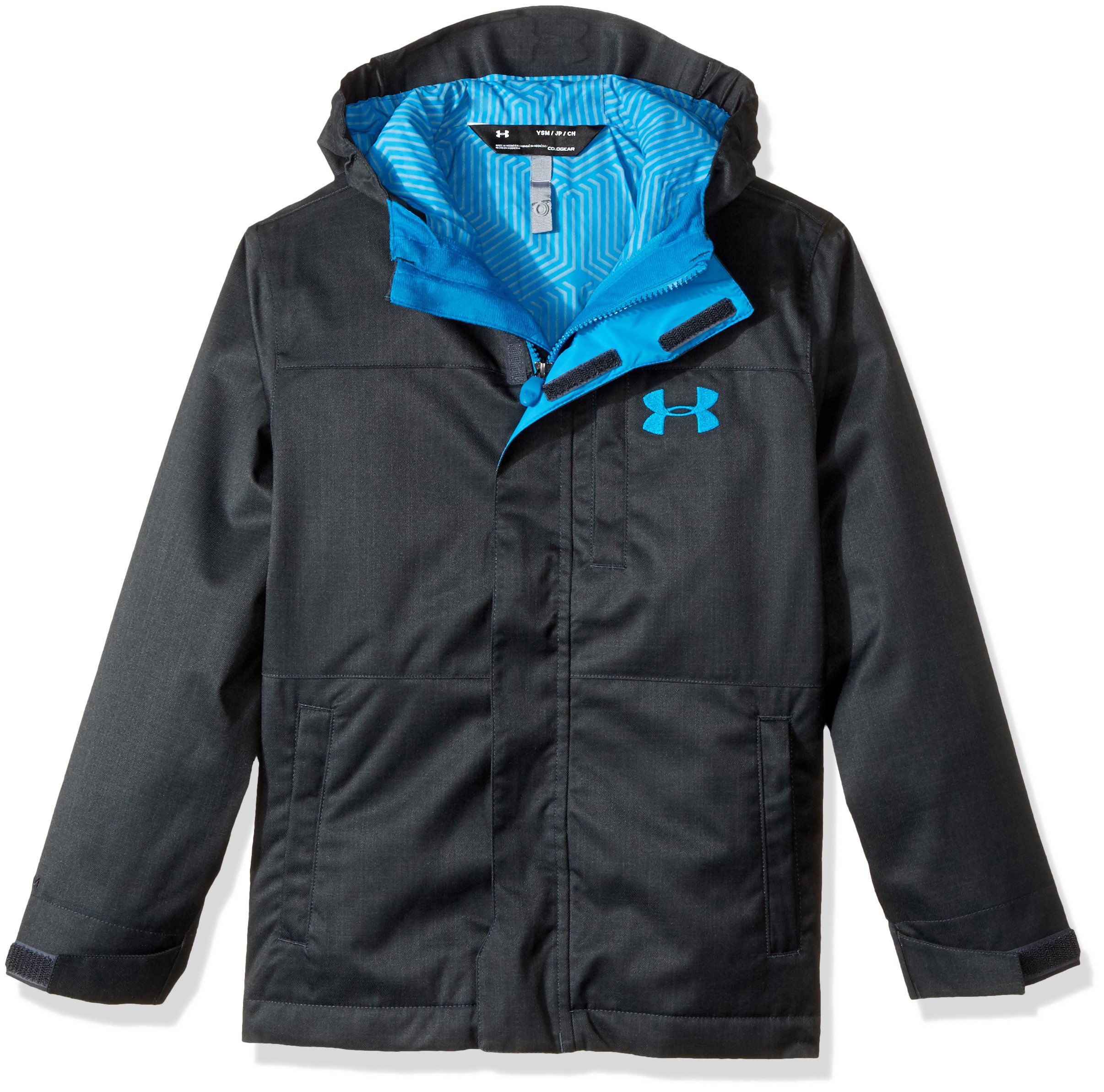 Under Armour Boys' Storm Wildwood 3-in-1 Jacket, Anthracite/Cruise Blue, Youth Small by Under Armour