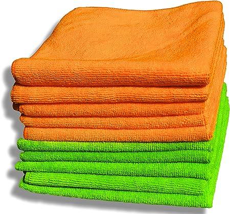 EG/_ 10Pcs Microfibre Cleaning Cloth Towel Car Valeting Duster Kitchen Wash Novel