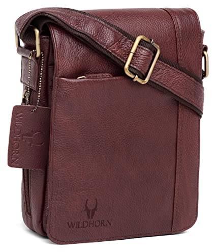 2491b05f79 Image Unavailable. Image not available for. Colour  WildHorn Men s Leather  Messenger Bag ...