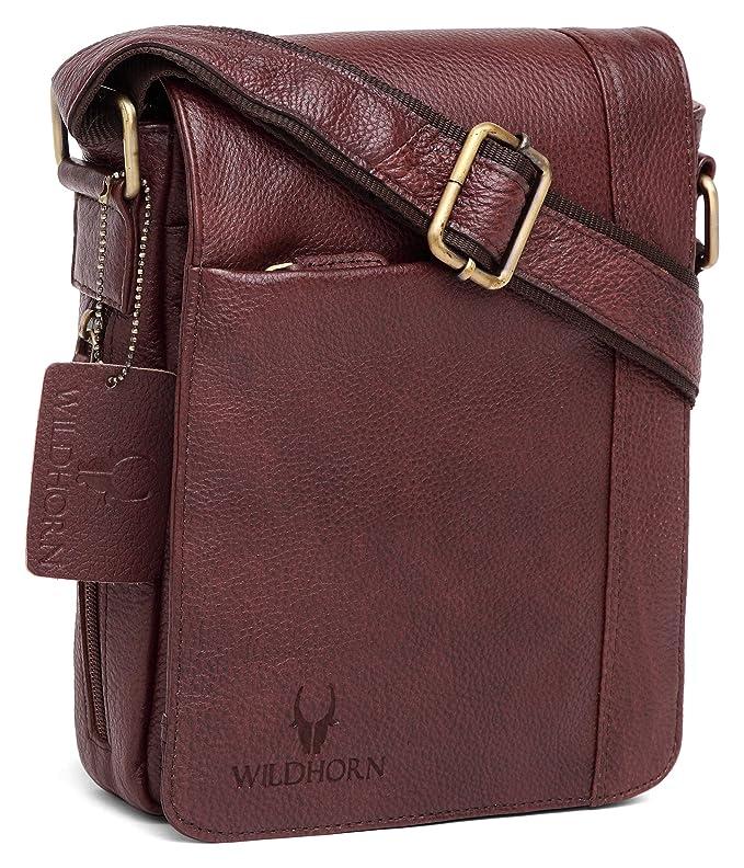 WildHorn Men s Leather Messenger Bag (WHM205 1 11c95c97f1f34