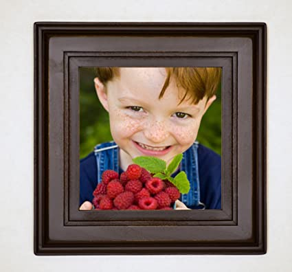 Amazon.com - Square Chocolate Brown Picture Frame, 8x8, Solid Poplar ...