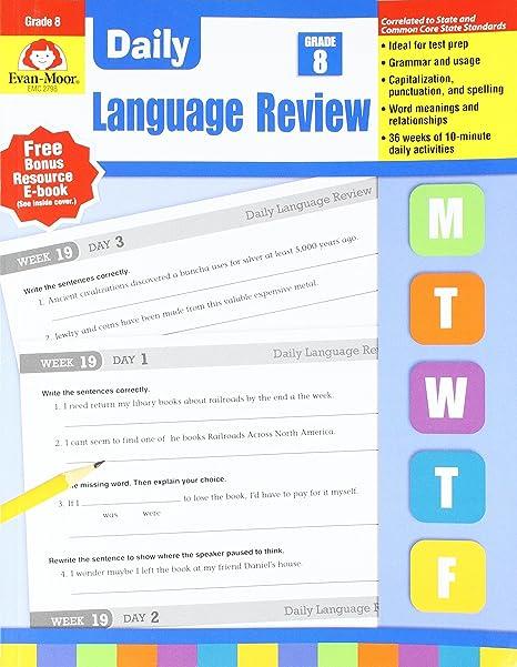 EVAN-MOOR EMC2798 - Daily Language Review GR 8