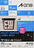 エーワン ラベルシール インクジェット 超耐水 光沢紙 12面角丸 10枚 64312
