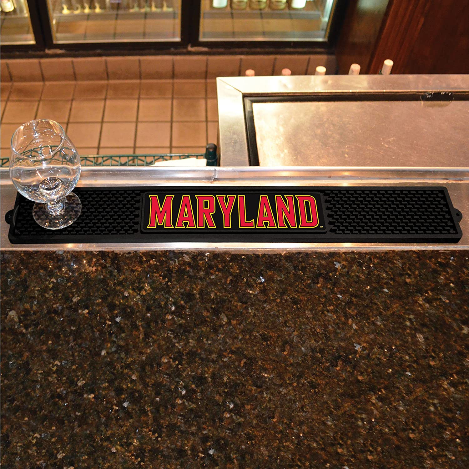 FANMATS 20550 Team Color 3.25x24 Maryland Drink Mat
