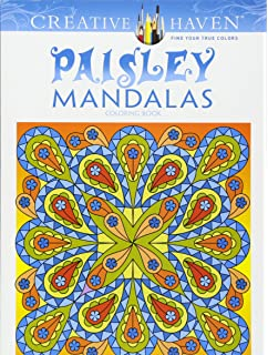 Creative Haven Paisley Mandalas Coloring Book Adult
