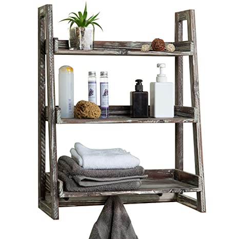 Amazon.com: MyGift - Estantería de madera con 3 estantes ...