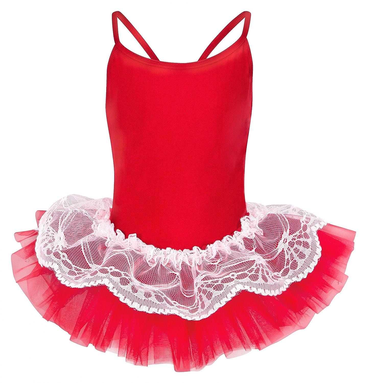 tanzmuster Antonia - Maillot con tutú para ballet - Tul de 3 capas con encaje superior - Varios colores