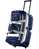 "Olympia Luggage 26"" 8 Pocket Rolling Duffel Bag, Navy, One Size"
