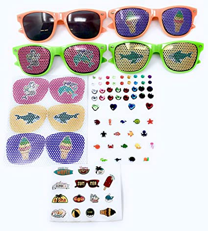 93b346fd15 Image Unavailable. Image not available for. Color  Bulk 5 Set Kids Sunglass  Craft Kits