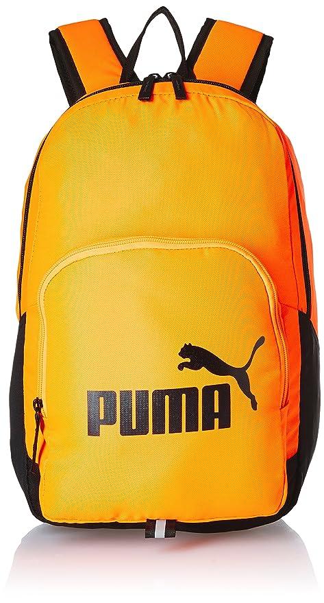 f8ad120b9d8b Puma 21 Ltrs Shocking Orange-Black Laptop Backpack (7358923)  Amazon ...