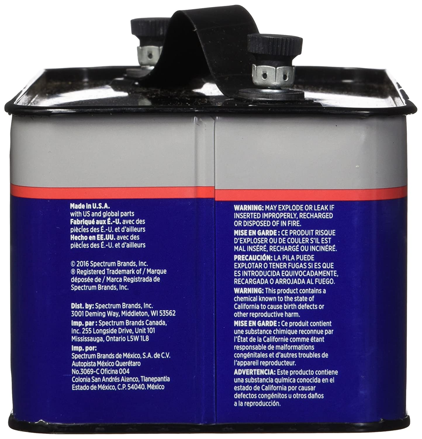 Amazon.com: Rayovac 803 Lantern Battery, 7.5 Volt Screw Terminals, Alkaline Emergency: Health & Personal Care